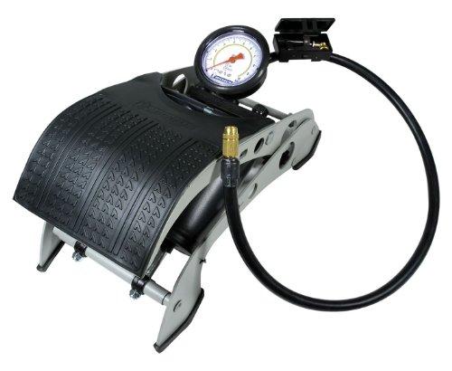 Michelin - Pompe à pied double corps, avec manomètre
