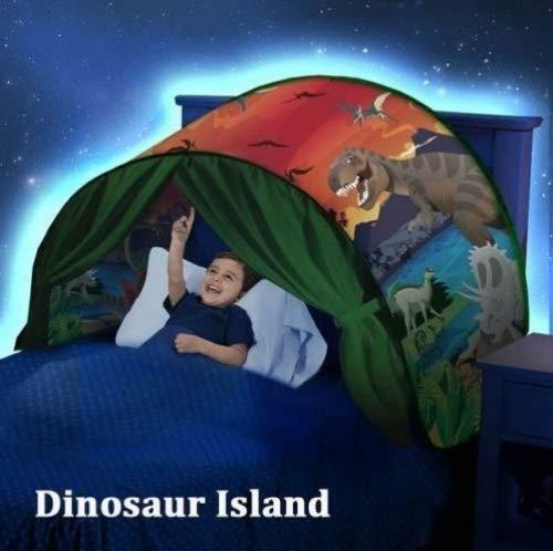 Children's Tent Folding Bed Tent Dream Child Skies The Secret Base Screen Fantasy House Interior (Space Adventure) Monde des Dinosaures