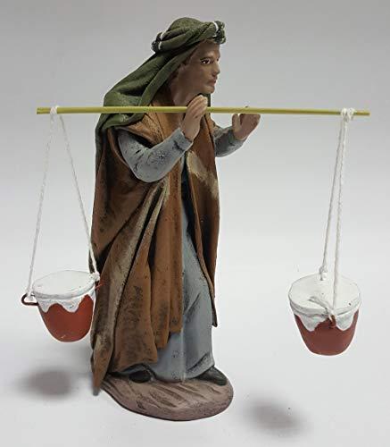 Arte Pesebre Pastor con ánforas al Hombro, para Figuras de 17 cm.