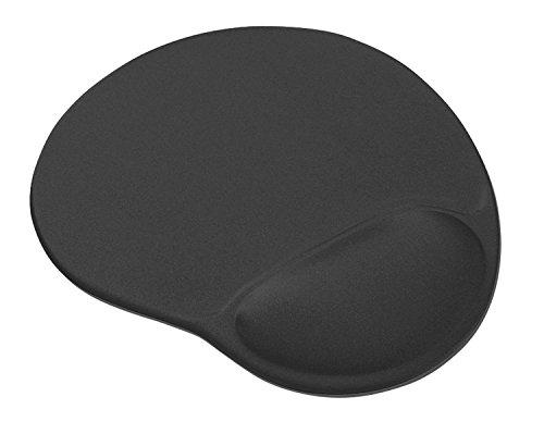 Trust 21444 Bigfoot Ergonomic Mouse Pad with Gel Wrist Rest with Non-Slip PU Base, Black