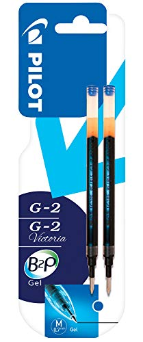 Pilot G2 - Cartucho de tinta de gel de recambio, color azul