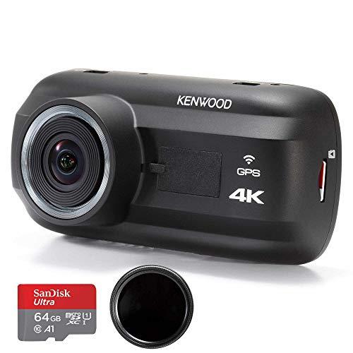 Kenwood DRV-A601W 4K Dash Cam & KCA-R200 Rear View Camera Bundle