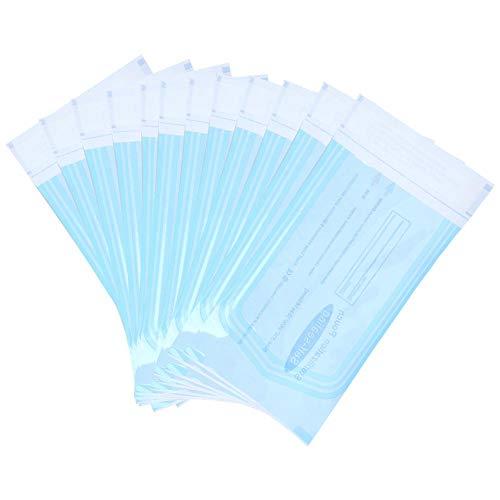 200pezzi Buste Autosigillanti Per Sterilizzazione | Sacchetti sigillati approvati dalla FDA in molte dimensioni | Conservare e sterilizzare strumenti dentali, kit medici ((135 x 310mm))