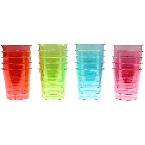 Temerity Jones 20 Einweg Party Kunststoff Shot Gläser Schnaps Stamperl