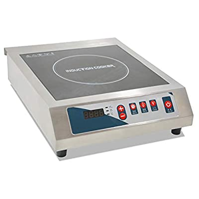 Professional Portable Induction Cooktop, 3500W Countertop Induction Cooker with Digital Temperature Display