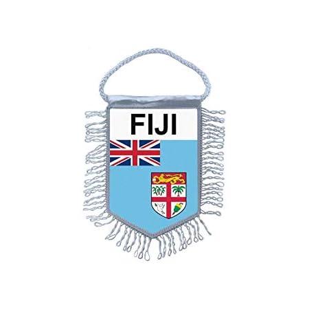 Akachafactory Fanion Mini Drapeau Pays Voiture Decoration Fiji Fidji fidjien