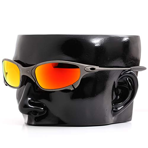 Polarized Ikon Iridium Replacement Lenses for Oakley X-Metal Juliet Sunglasses - Fire Orange Mirror