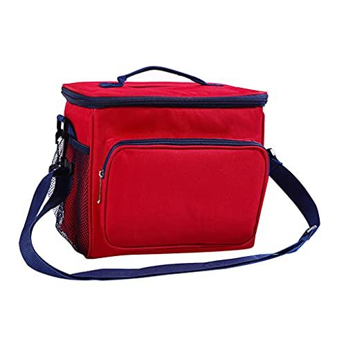 Incdnn Tragbare Isolier-Lunch-Tasche Outdoor-Picknick Frischhalte-Isolierung Auslaufsichere Kühltasche mit Riemen Tragbare Isolier-Lunch-Tasche