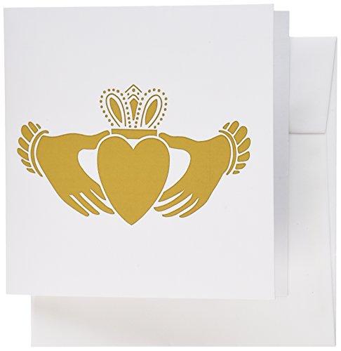 3dRose Set of 12 Greeting Cards, Irish Claddagh (gc_108309_2)