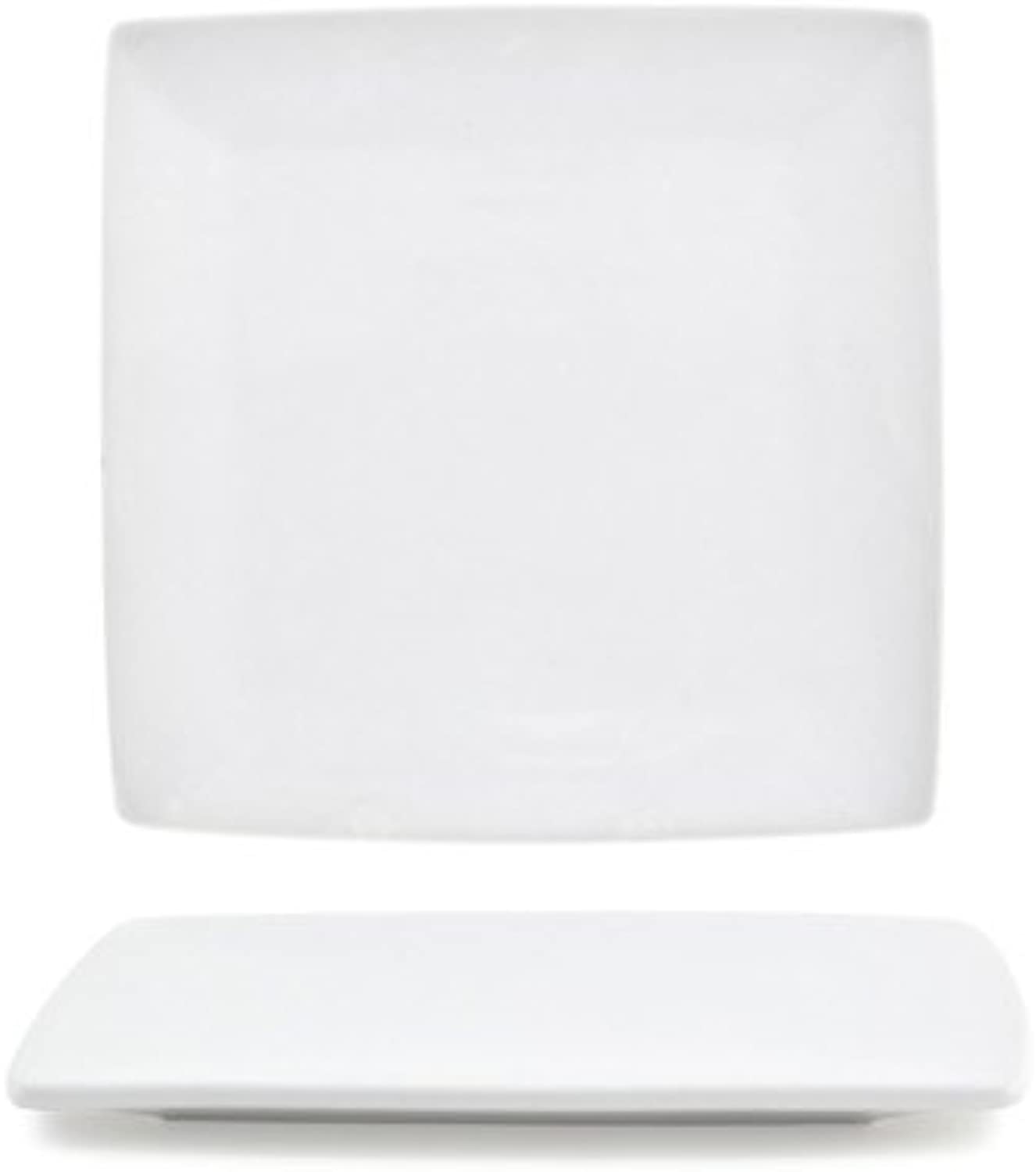 Front of the House DAP044WHP23 Canvas Square Plate, 0.25  Height, 5  width, 5  Length, Porcelain, White (Pack of 12)