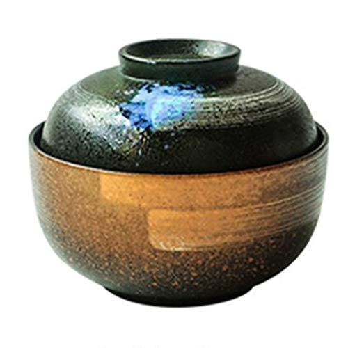Schalen & Schüsseln Salatschüssel Schüssel Keramik Mit Deckel Haushaltsschüssel Instant Nudelschüssel japanische Küche Suppenschüssel Ramen Schüssel mit Deckel (Zwei Schalen)