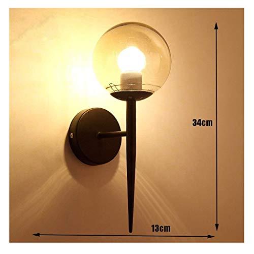 Wandlantaarn, wandlamp, kristal, spiegel, wandlamp, minimalistisch, modern, LED, rond, wandlamp, binnenverlichting, hotelverlichting, techniek, verlichting van M zwart.