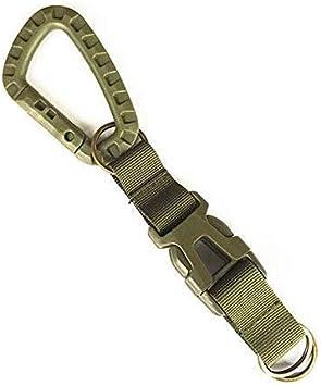 AILOVA Llavero táctico, Molle correa clip para cinturón, correa multifuncional al aire libre, cinta de nailon, hebilla portátil para senderismo, caza, ...