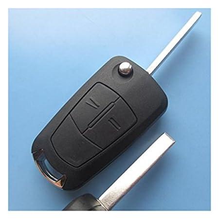 Opelks01 Ersatz Schlüsselgehäuse Mit 2 Tasten Autoschlüssel Klappschlüssel Schlüssel Chiavi Mit Rohlingtyp Hu100 Fernbedienung Funkschlüssel Gehäuse Ohne Transponder Oder Elektronik Inion Für Opel Ks01 Auto