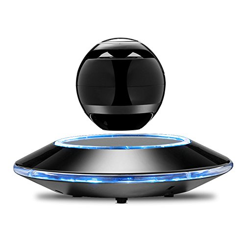Infinity Orb Levitating Bluetooth Speakers Magnetic Wireless Floating Speaker with LED Light for Hands-Free Call and Music Play (Black)
