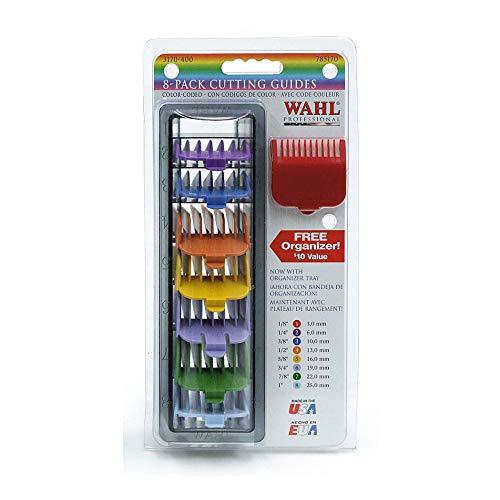 Wahl - Set di 8 guide tagliacapelli, multicolor