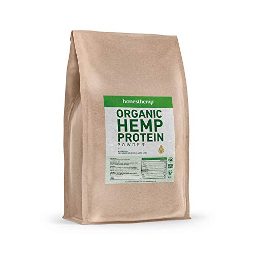 Hemp Protein Powder - Organic Raw Hemp Vegan Protein Powder from Honest Hemp - 1kg of Plant Based Protein - 50% Protein per Serving - 33 Servings per Bag - UK Made