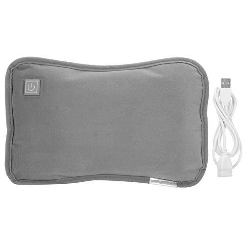 Cuscino riscaldante, comodo cuscino riscaldante elettrico pieghevole USB scaldamani invernale, adatto per protezione solare dell'ufficio in inverno(grigio)