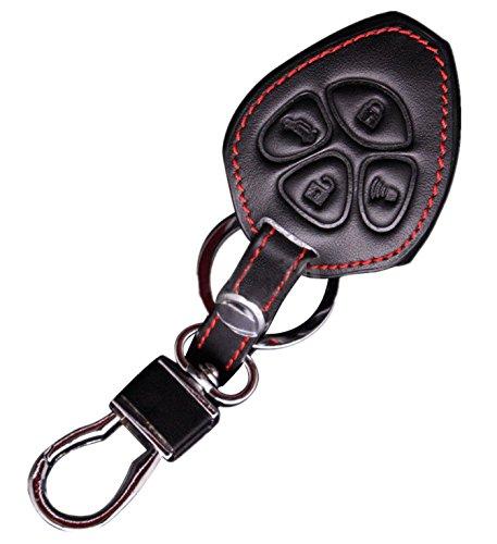 KAWIHEN Leather Key Fob Case Cover Fit for Toyota Camry Corolla Avalon RAV4 Yaris Matrix 4Runner BRZ HYQ12BBY 89070-06232