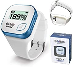 بسته نرم افزاری: Golf Golf Buddy Voice 2 Golfbuddy Voice2 مچ بند GPS Golf Buddy با کاربرد آسان (سفید)