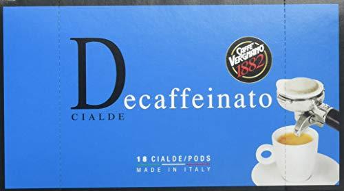 Caffè Vergnano 1882 Pads Caffè Decaffeinato (Entkoffeiniert) - Packung enthält 18 Pads