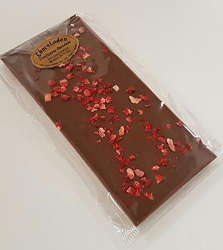 ChocoLaden - Vollmilchschokolade mit Erdbeere -HANDGEMACHT-