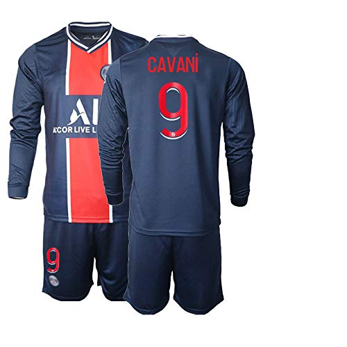 POHH 20/21 Herren Langarm Fußball Trikot Cavani 9# Erwachsene Fußball Sportswear (XXL)