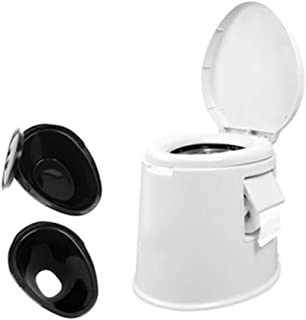 Bedside Commode, Mobile Toilet/Portable Toilet/Portable Travel Toilet/Old Man Toilet Stool with Bucket Easy to Empty Dual ...