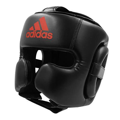 Adidas Super Pro - Gorro de boxeo para hombre y mujer, color negro y rojo, talla S, para entrenamiento de artes marciales mixtas, gimnasio y boxeo
