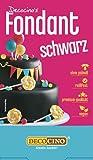 DECOCINO Fondant Schwarz – 250 g – ideal zum Verzieren von Kuchen, Torten, Cupcakes – Palmölfrei & vegan