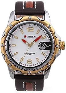 كورين ساعة رسمية رجال انالوج بعقارب جلد - M-8104