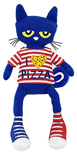 MerryMakers Pete The Cat Pizza Party Soft Plush Blue Cat Stuffed Animal Toy, 14.5-Inch, from James Dean's Pete The Cat Book Series, Multi (1868)