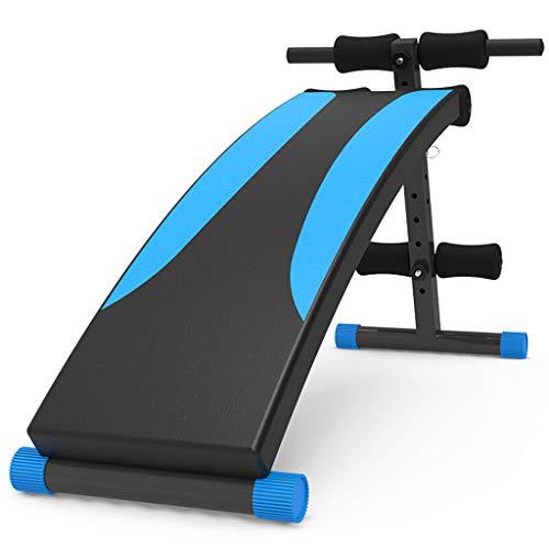 Sit-up board Attrezzature Addominali multifunzionali a Bordo della tavola Muscolare Addominale Pieghevole supina, Blu Nero