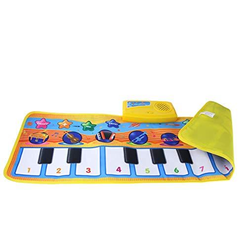 Zzlush Educational Spielzeug Kinder Lernen Musical Matte mit tierischen Stimme Baby Klavier Spielen Teppichmusik Spiel Instrument Spielzeug Frühe pädagogische Spielzeug für Kinder Geschenk 80x28cm