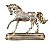 LGR Estatuas Figuras Esculturas, Color Plateado Estatuas de Resina de Caballo Dorado Figuras de época Adornos Escultura de Caballo Artesanía Hogar Oficina Decoración Accesorios Boda TS