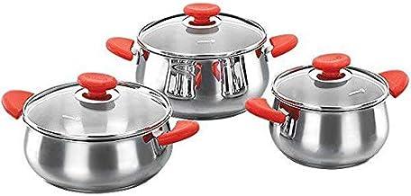 Korkmaz A1665-1 Selecta 3 Jr. Cookware Set/Red
