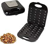 GWFVA Máquina eléctrica para Hacer Pasteles de nueces, máquina automática para Hacer gofres con Mini nueces, Plancha para sándwiches, tostadora, Hornear, Horno, sartén para Desayuno, gofres