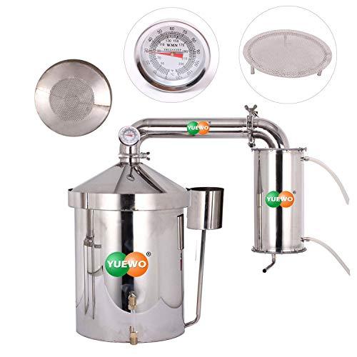 48L destilador de agua casero acero destiladores de aceites esenciales alambique de...