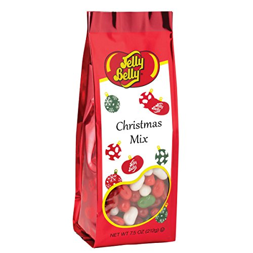 Jelly Belly Christmas Mix - 7.5 oz Gift Bag - Genuine, Official, Straight from the Source