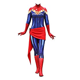 Texmex Lady Captain Suit Halloween Zentai Cosplay Costumes Suit Adult/Kids 3D Style