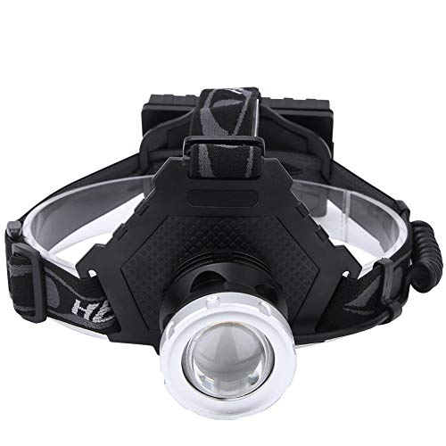 Faro LED P70 montado en la cabeza para un uso y desmontaje sencillos.