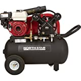 NorthStar Portable Gas-Powered Air Compressor - Honda 163cc OHV...