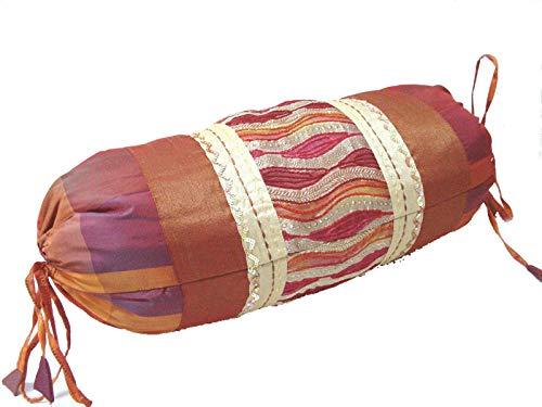 0 www.working-house.com (Textil / Cojines) Funda DE COJIN Cama Sofa Rollo Redondo Naranja