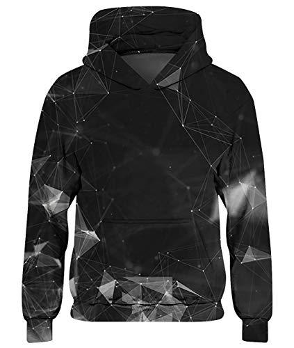 Goodstoworld Galaxy Pullover Kinder Mädchen Jungen 3D Kapuzenpullover Hoodie Coole Druck Lange Ärmel Sweatshirt Pulli