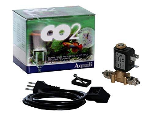 Aquili CO210 Elettrovalvola 3.5 W con Raccordi Filo e Spina, Ottone