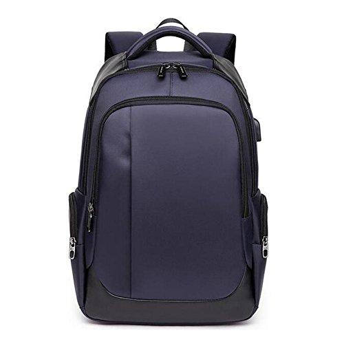 beibao shop Backpack - Grande capacité Ordinateur Sac à Dos Imperméable Résistant à l'usure Étudiant Sac d'école Contient Prise USB, Blue