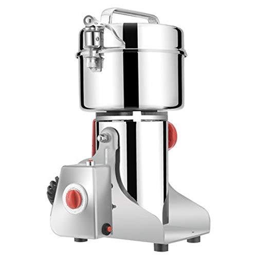 Newtry Mehlmühle aus Edelstahl, 800 g, für chinesische Medizinische Kräuter, Müsli, Pulver-Mischer/Pulverzerkleinerer - 220v