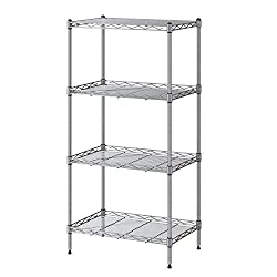 Kitchen accessories 4 Tier Shelf Shelving Units with 4 Hooks