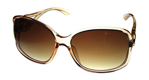 Kenneth Cole Reaction Plastic Womens Oversized Brown Rectangle Sunglass, KC1232 27F
