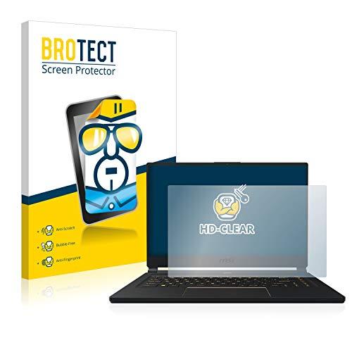 BROTECT Schutzfolie kompatibel mit MSI GS65 8SF-264DC klare Bildschirmschutz-Folie